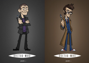 Fantastic 14 Doctors cartoons
